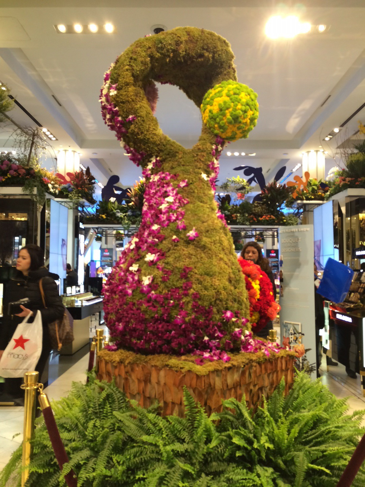 Macy's flower show photomontage