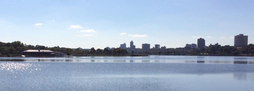 the lake at midday